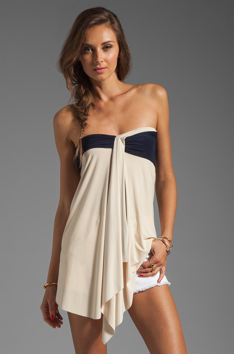 T-Bags LosAngeles Strapless Top in Cream