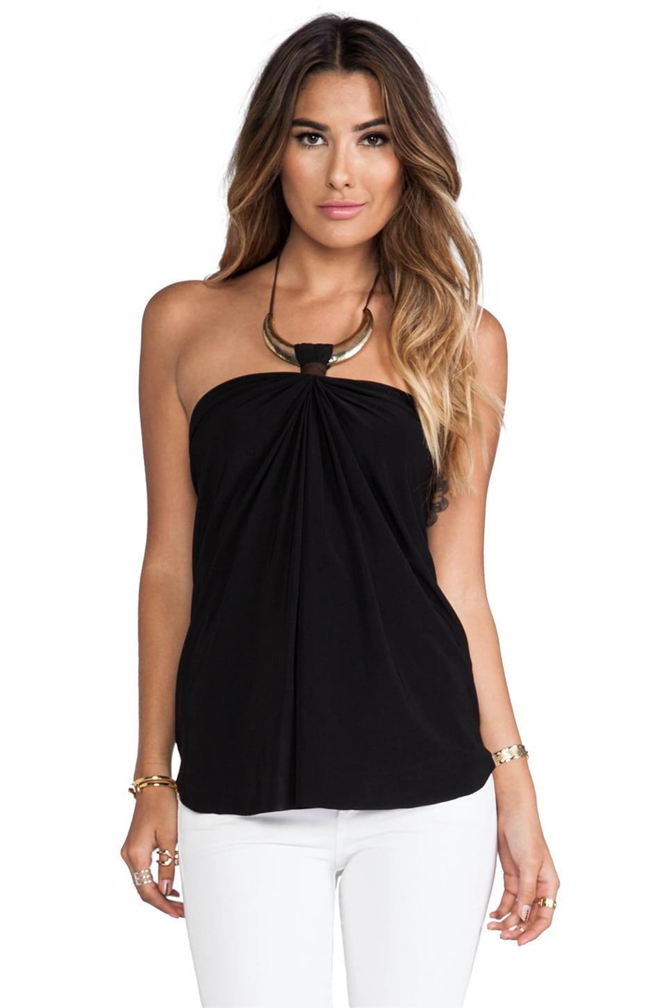 T-Bags LosAngeles Necklace Tank in Black