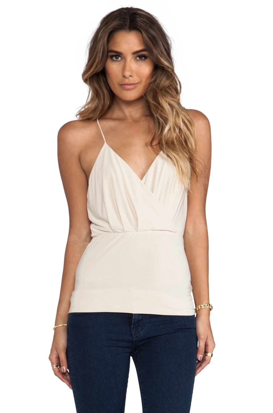 T-Bags LosAngeles V Tank in Cream