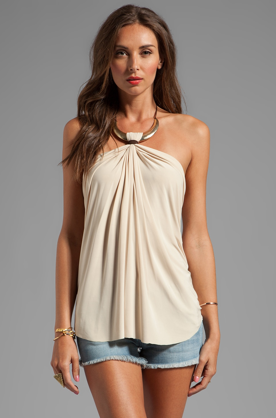 T-Bags LosAngeles Necklace Tank in Cream