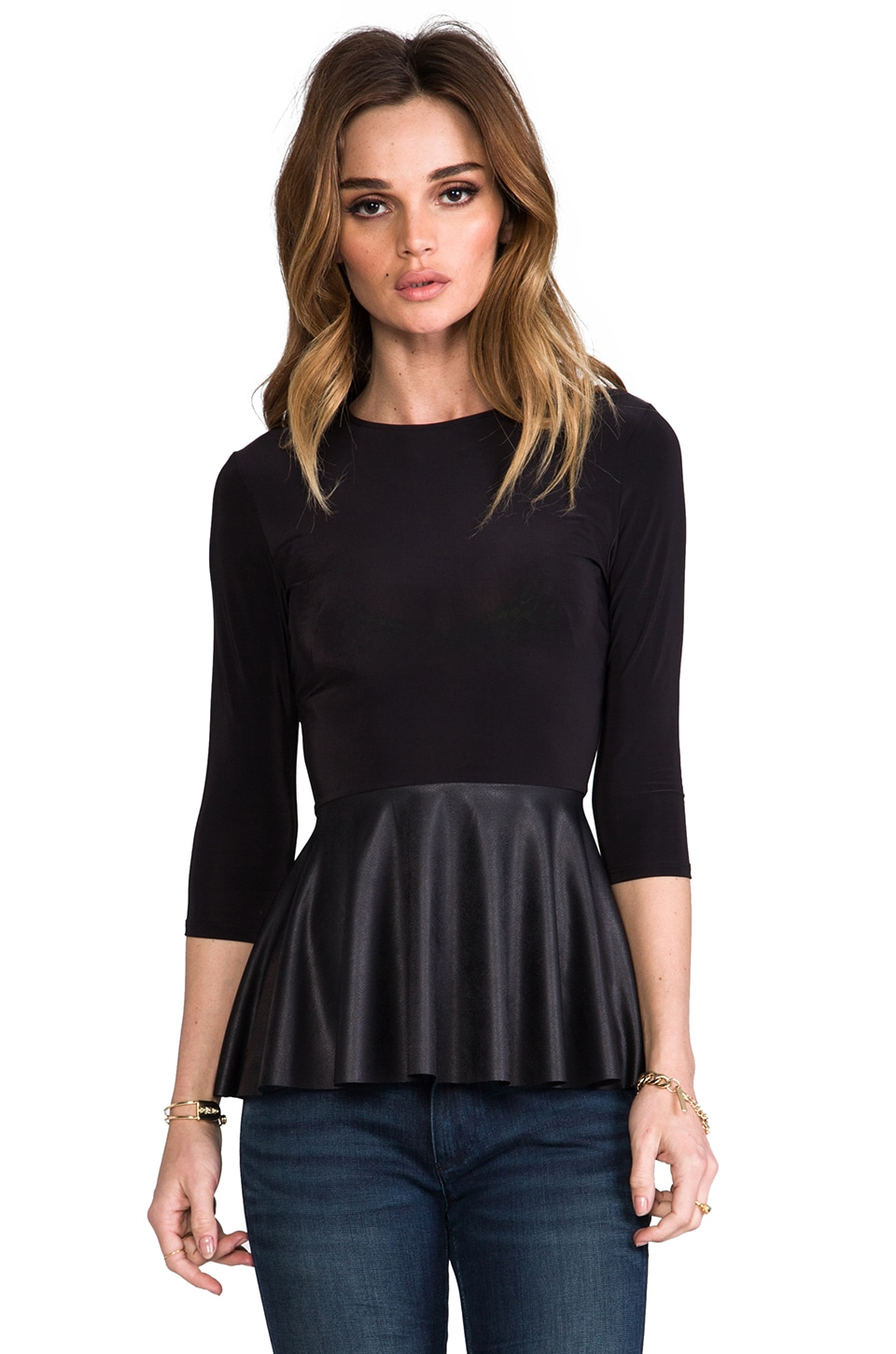 T-Bags LosAngeles T-Bags Los Angeles Peplum Top in Black