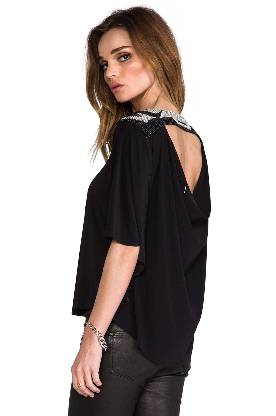 T-Bags LosAngeles T-Bags Los Angeles Back Cut Out Blouse in Black