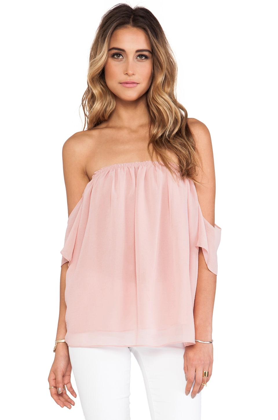 T-Bags LosAngeles Off The Shoulder Top in Baby Pink
