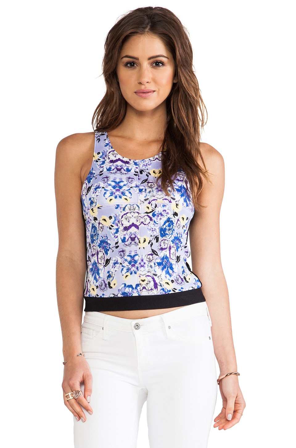 T-Bags LosAngeles Cropped Tank in Lilac Floral
