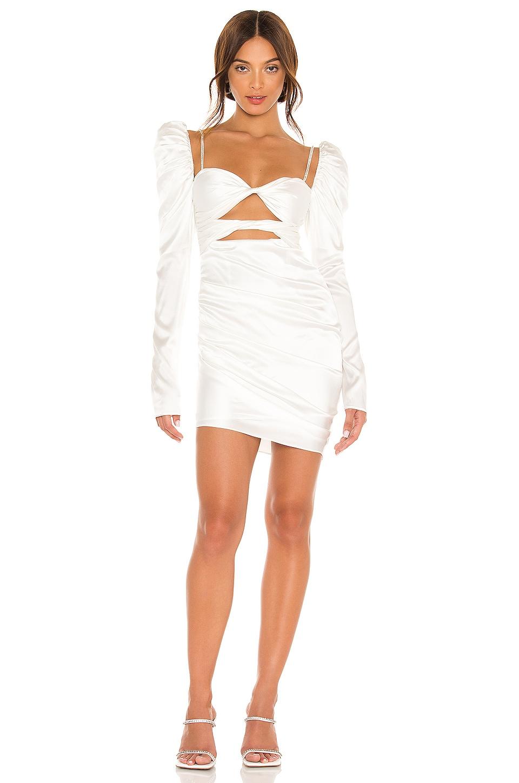 The Bar Twist Dress in Ivory
