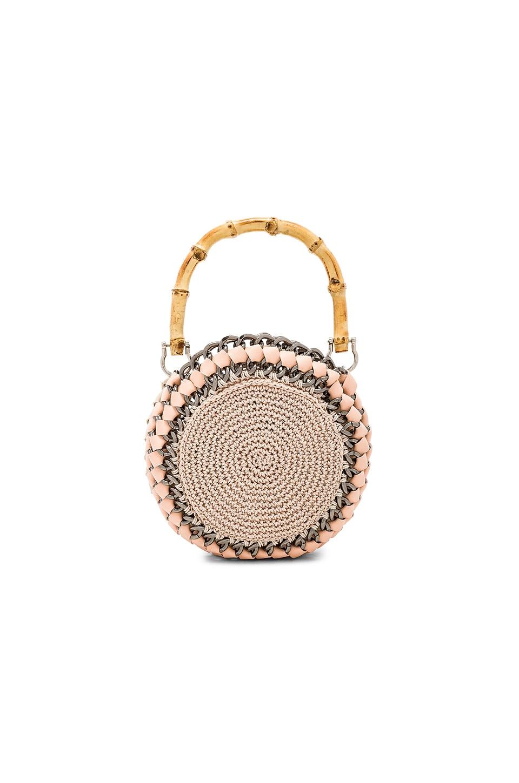 TAMBONITA Tamborine Bag in Blush & Ivory