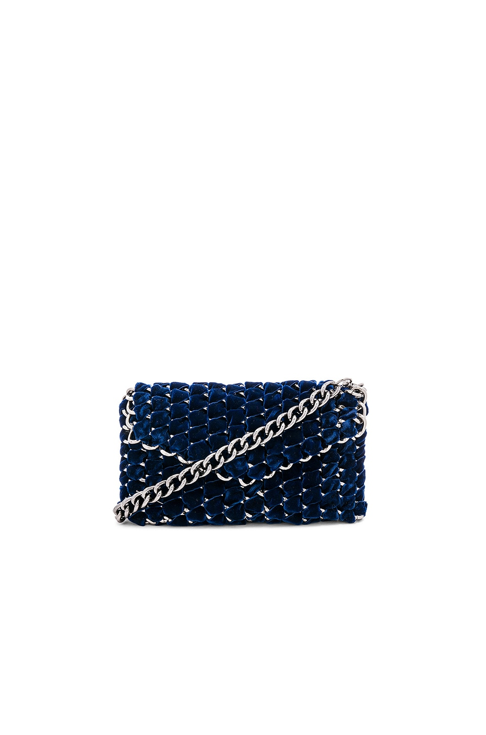 Eve Velvet Clutch with Gunmetal Chain
