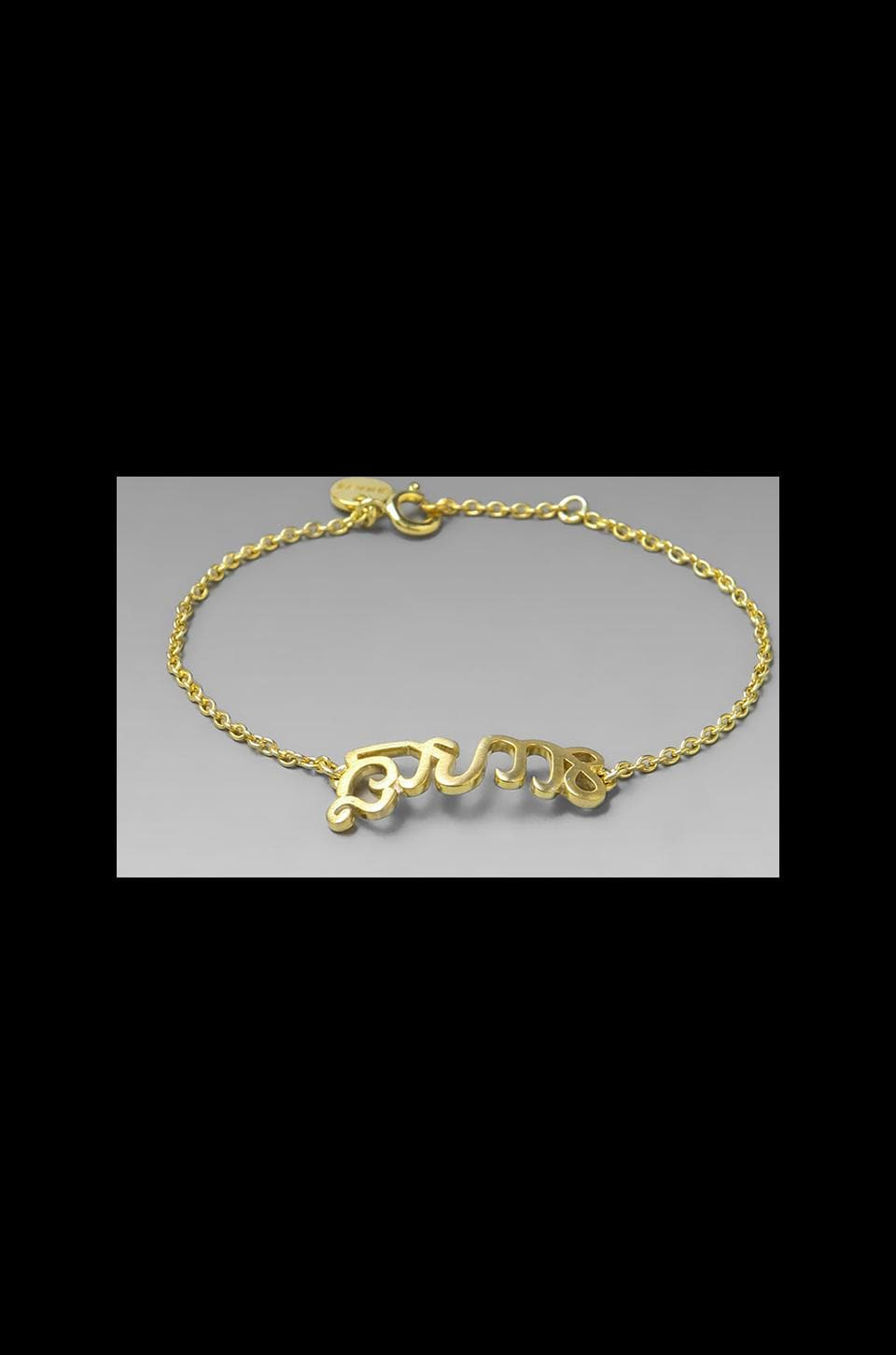 The Brave Collection Chain Bracelet in 14K Gold