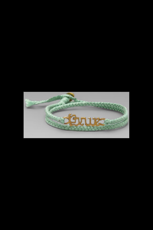The Brave Collection Brave Bracelet in Mint Brass