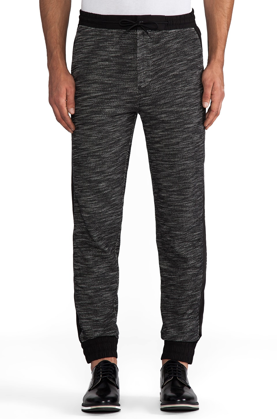 T by Alexander Wang French Terry with Matte Nylon Sweatpants in Black/White