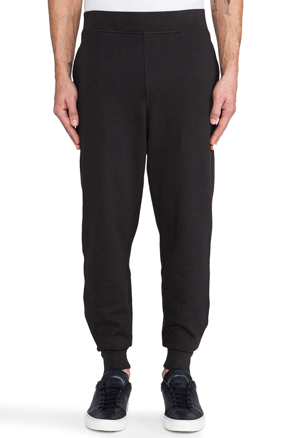 T by Alexander Wang Vintage Fleece Sweatpant in Black