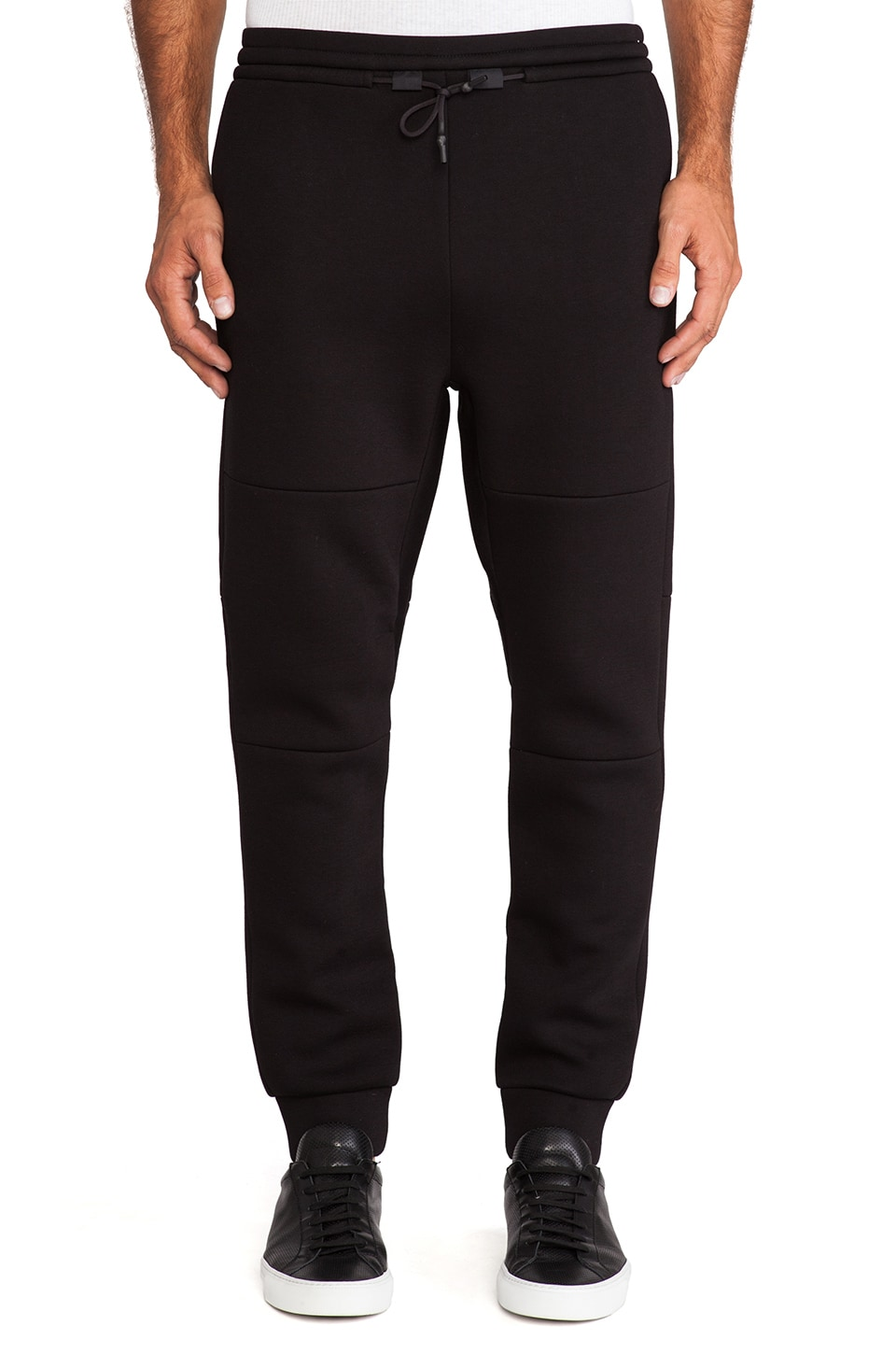 T by Alexander Wang Scuba Double Knit Sweatpants in Black