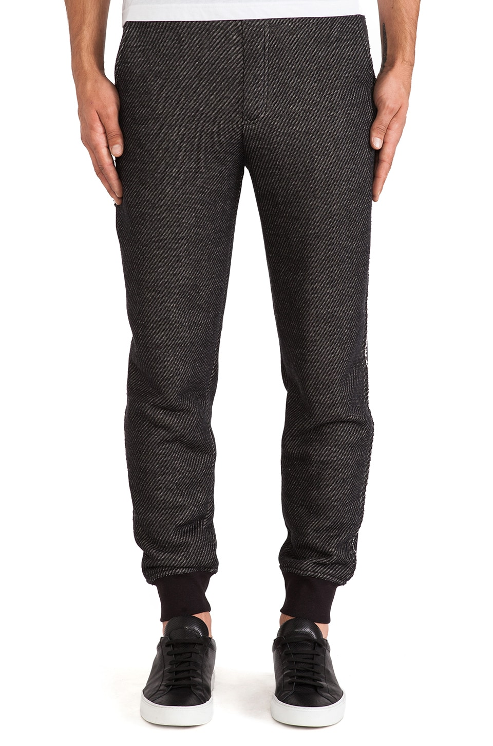 T by Alexander Wang Knit French Terry Sweatpant in Black
