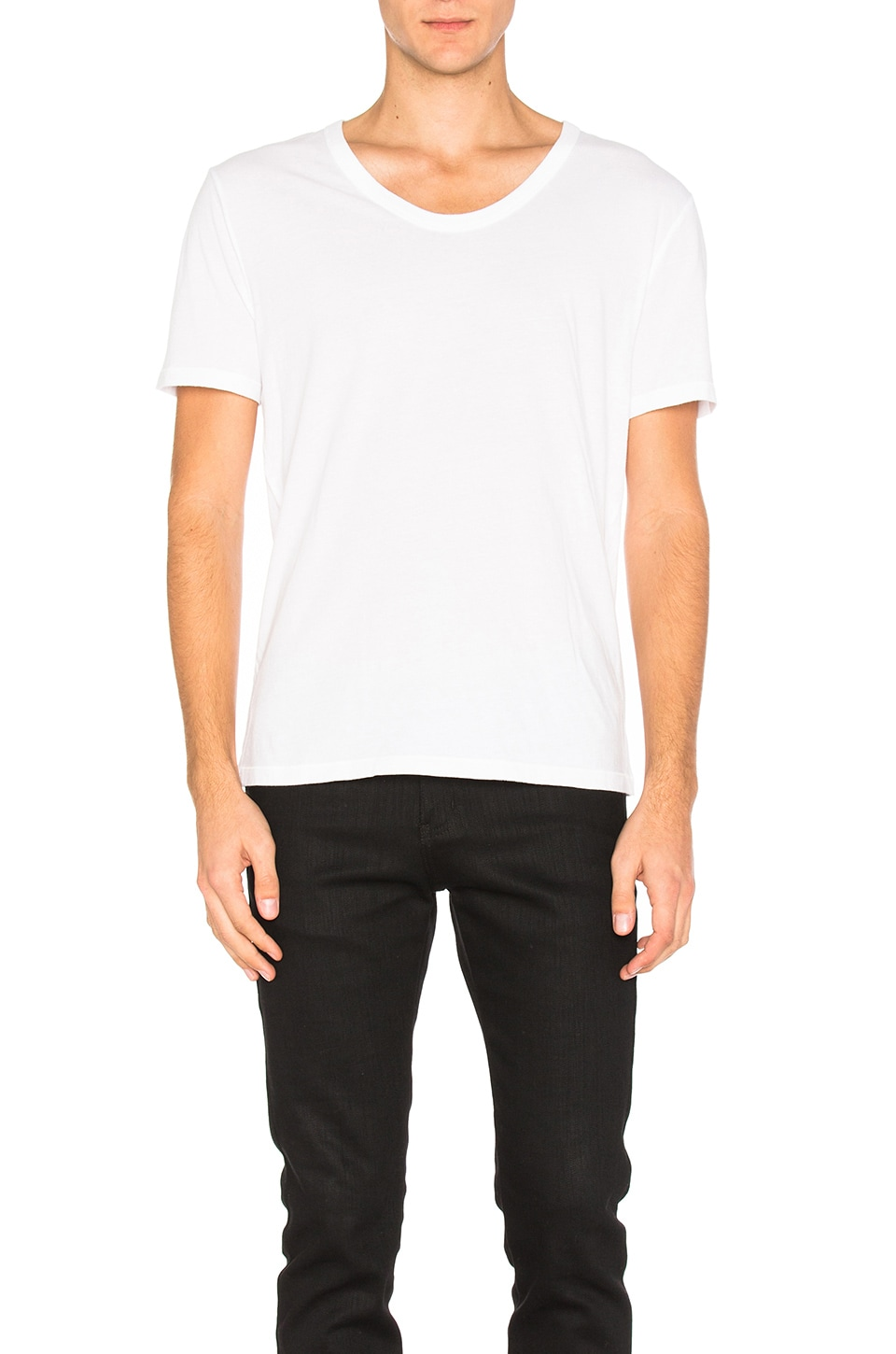 Classic Low Neck Tee by T by Alexander Wang