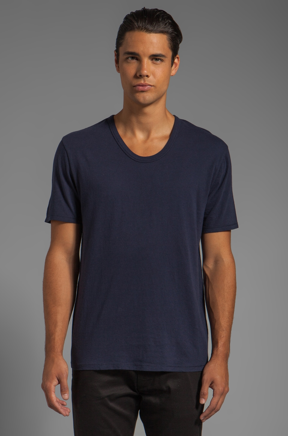 T by Alexander Wang Classic Low Neck Tee in Indigo