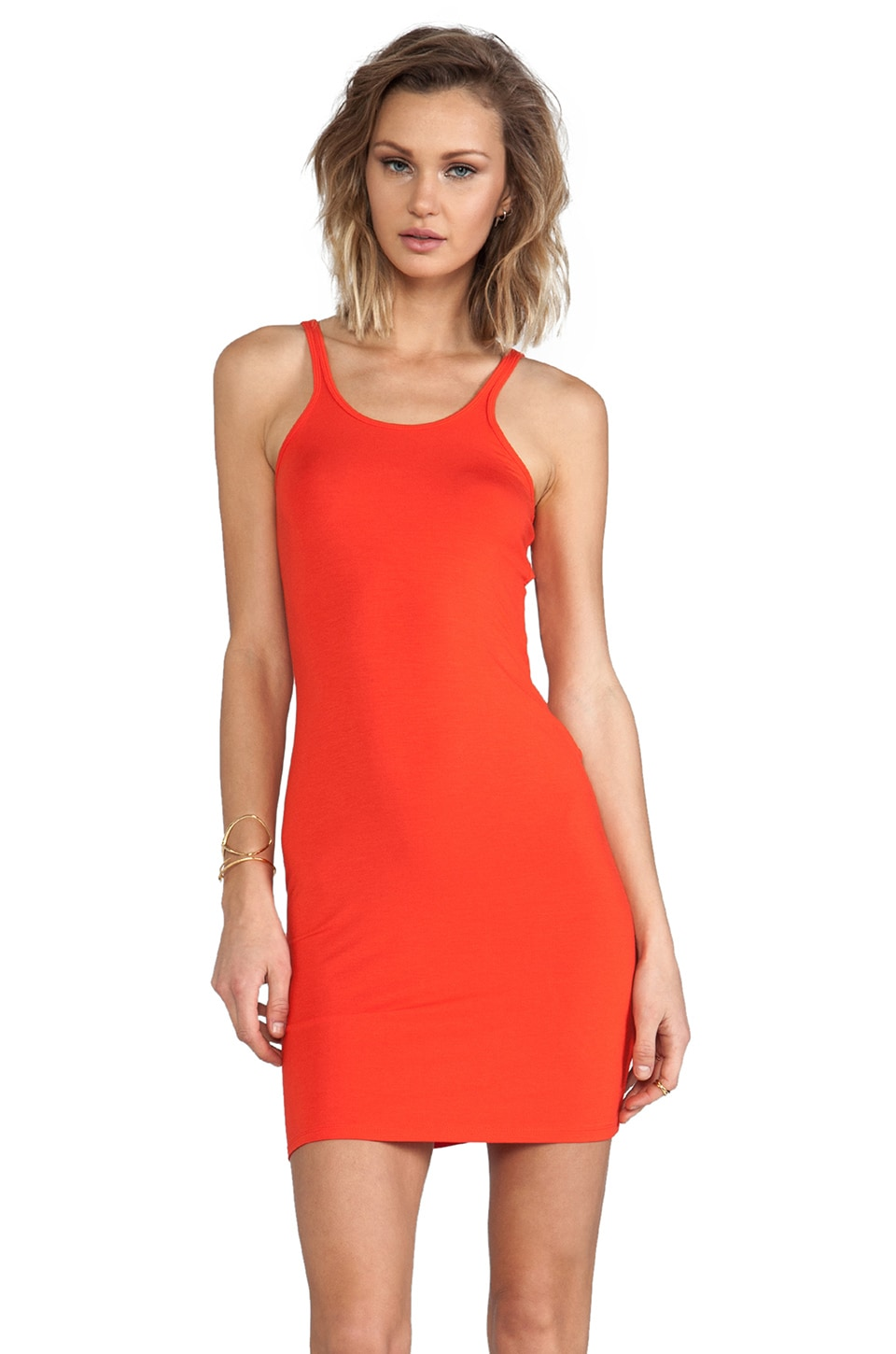 T by Alexander Wang Cami Tank Dress in Cola