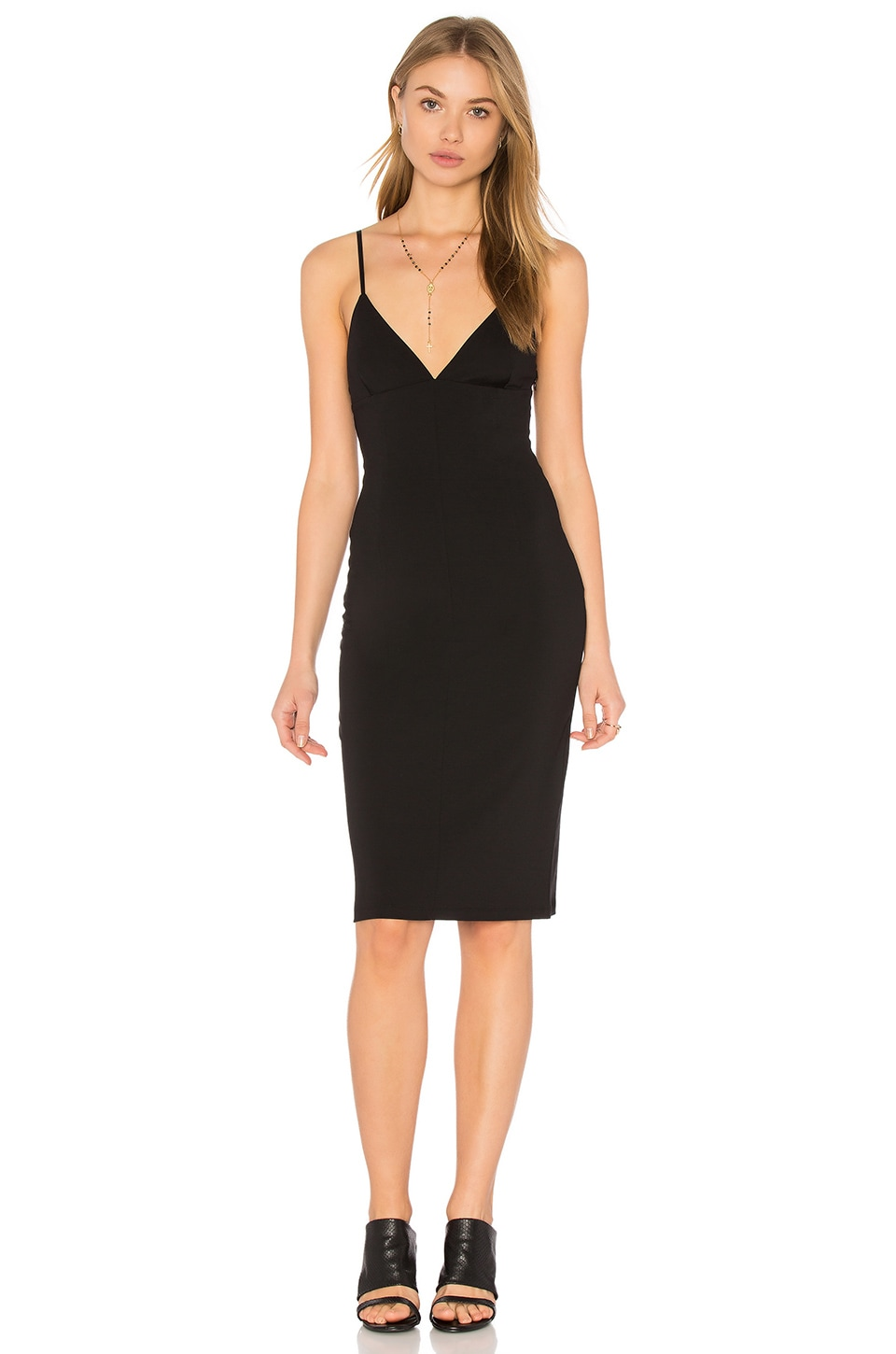 Fitted Spaghetti Strap Dress by T by Alexander Wang
