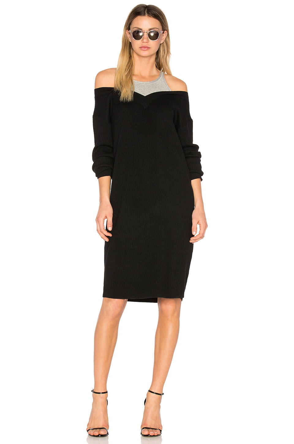 410b860c3 T by Alexander Wang Pullover Dress with Inner Tank in Black