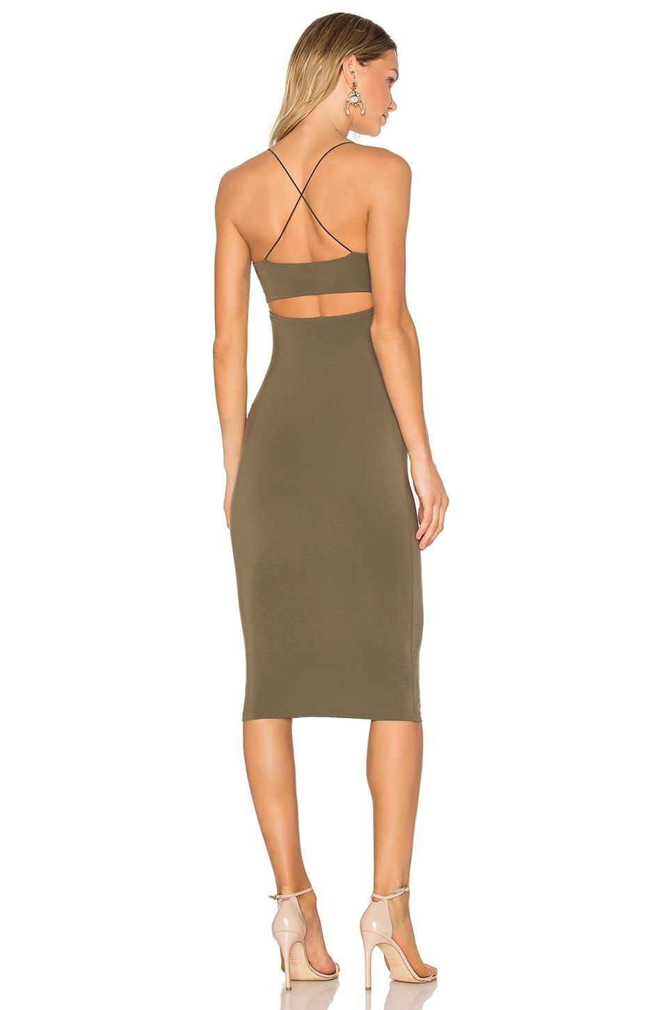 T by Alexander Wang Strappy Tank Dress in Military