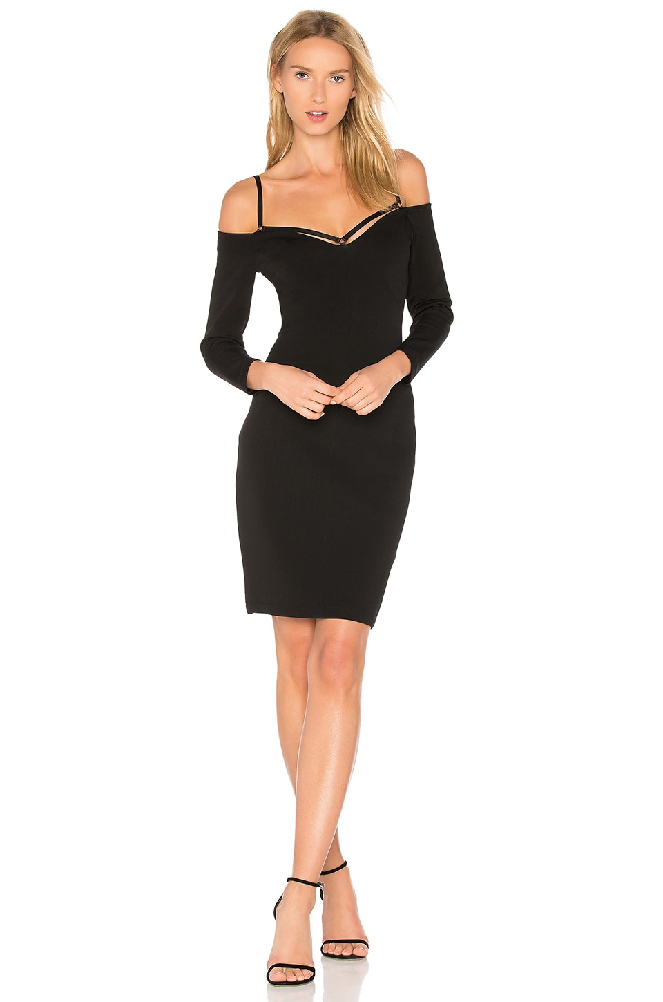 Cold Shoulder Mini Dress by T by Alexander Wang