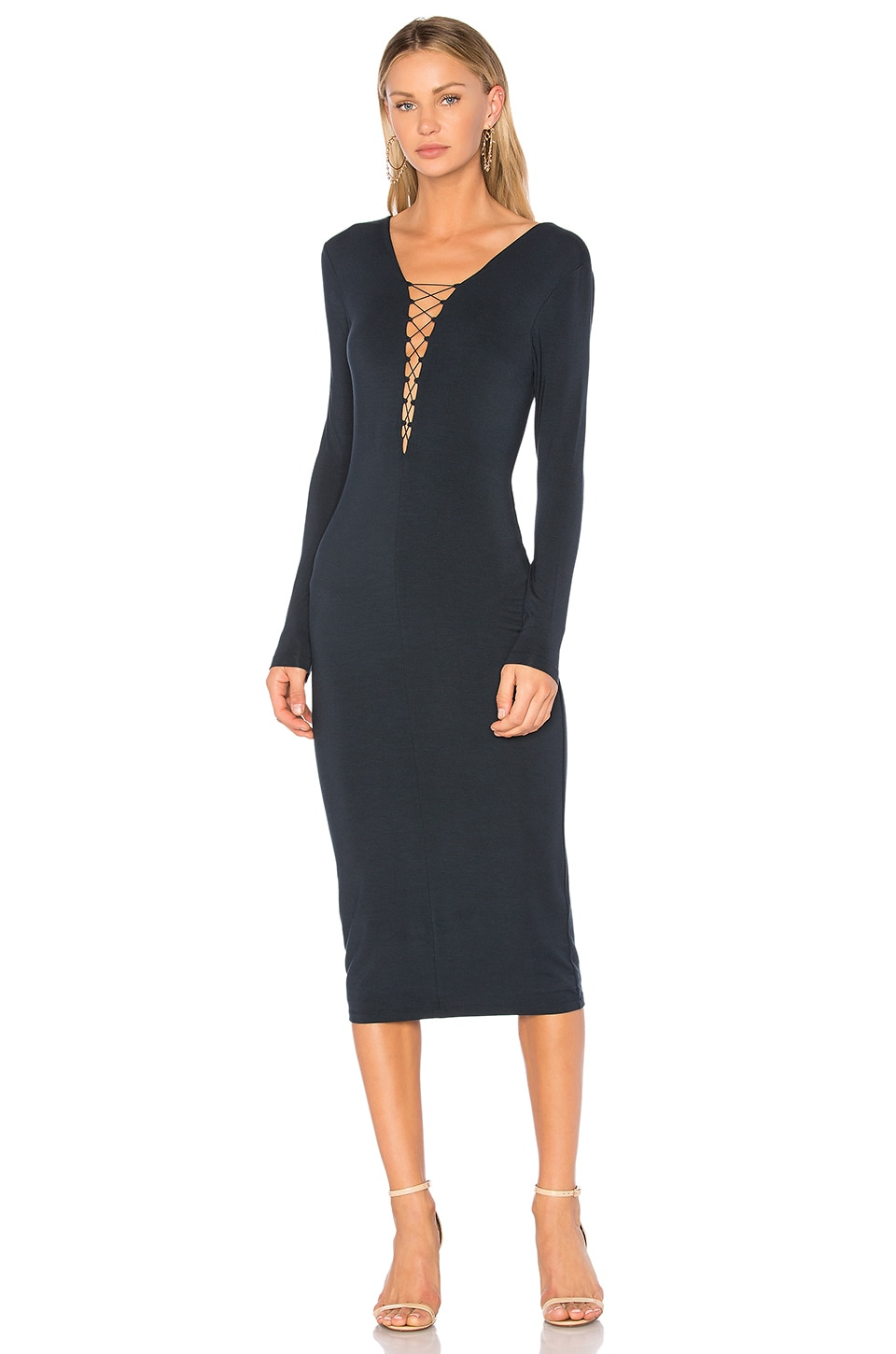 Lace Up Midi Dress by T by Alexander Wang