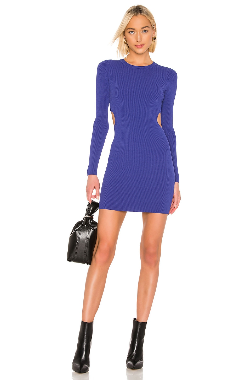 T By Alexander Wang Dresses T BY ALEXANDER WANG BODYCON LONG SLEEVE DRESS IN BLUE.