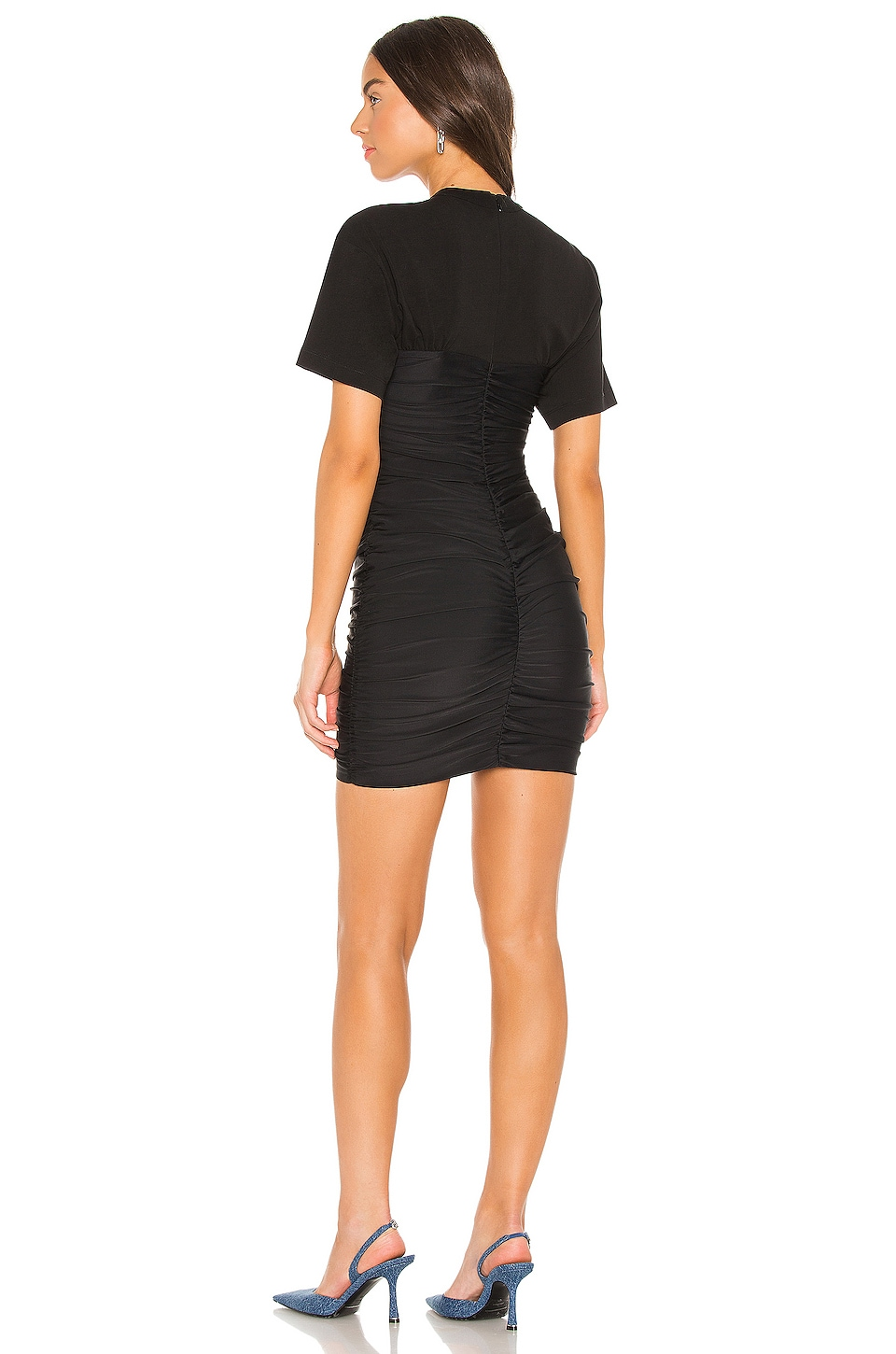 Ruched Bodycon Mini Dress, view 3, click to view large image.