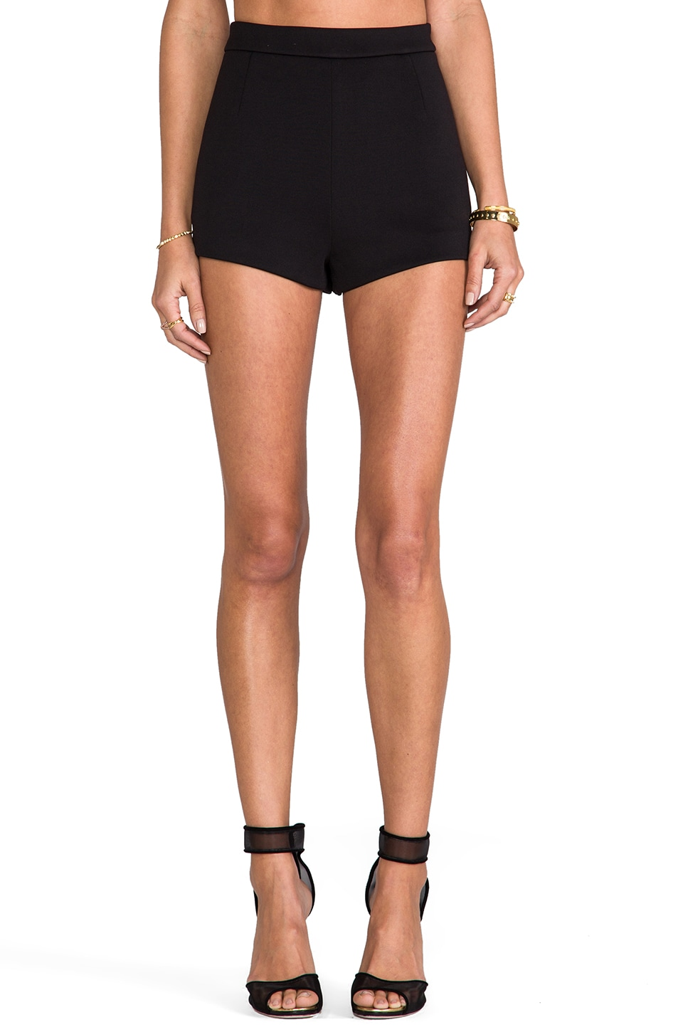 T by Alexander Wang Neoprene Shorts in Black
