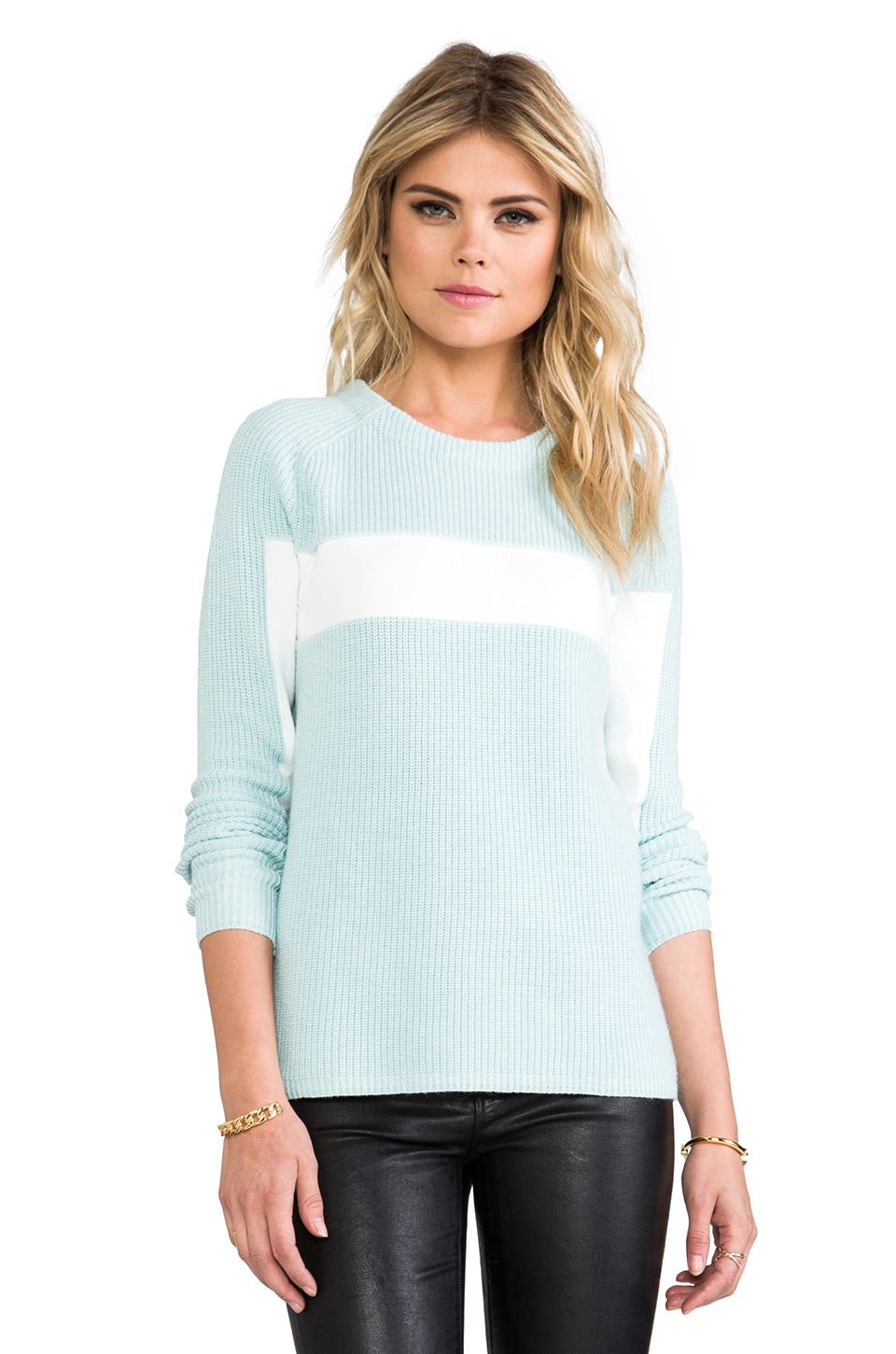 T by Alexander Wang Stripe Pullover Sweater in Sky
