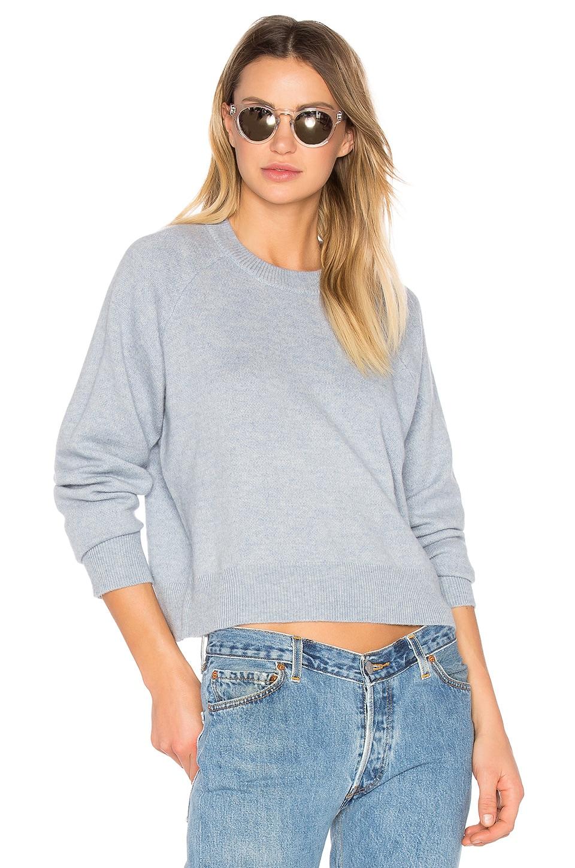 Cashwool Crewneck Crop Sweater by T by Alexander Wang