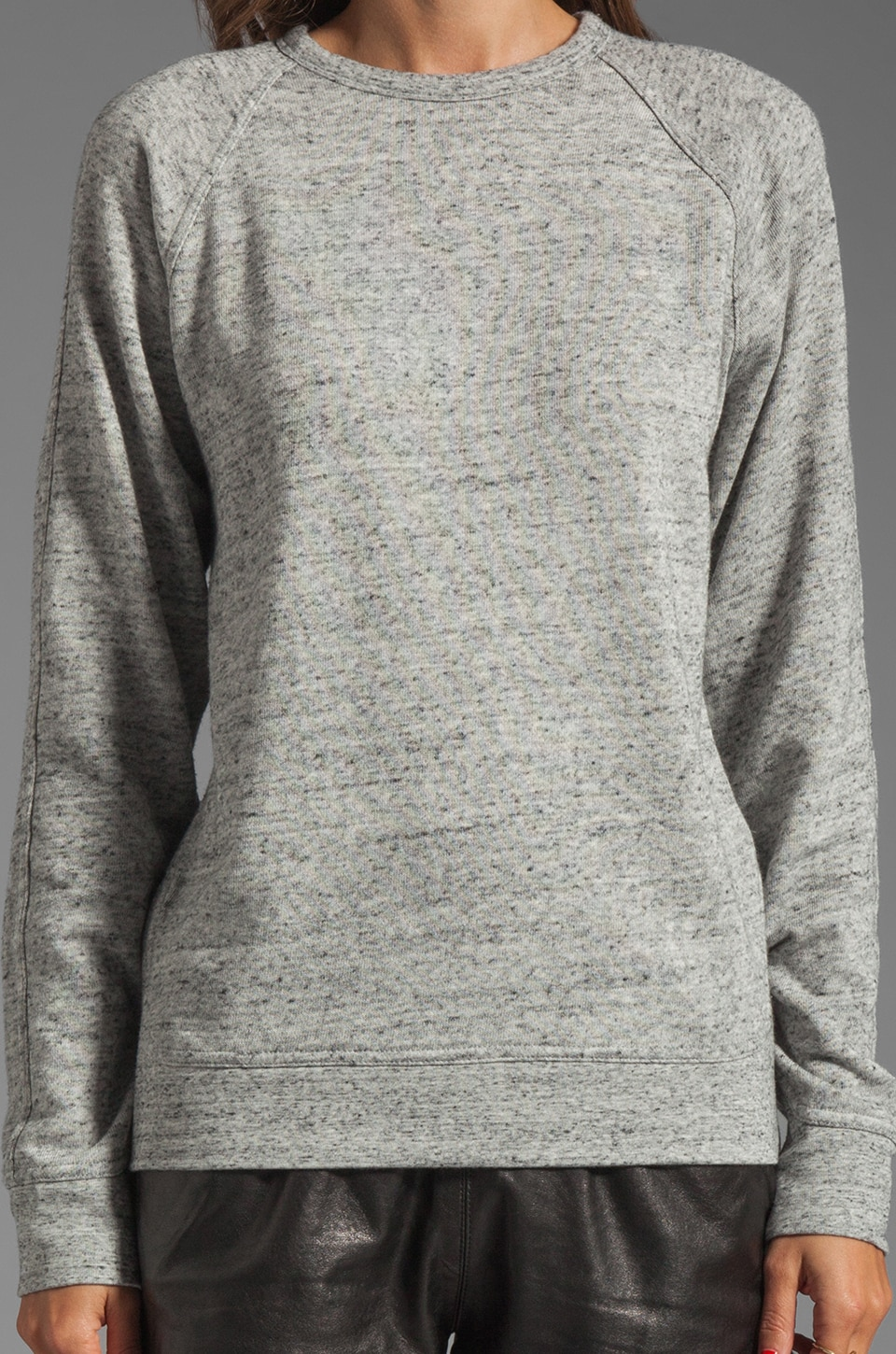 T by Alexander Wang Crew Neck Sweatshirt in Light Heather Grey