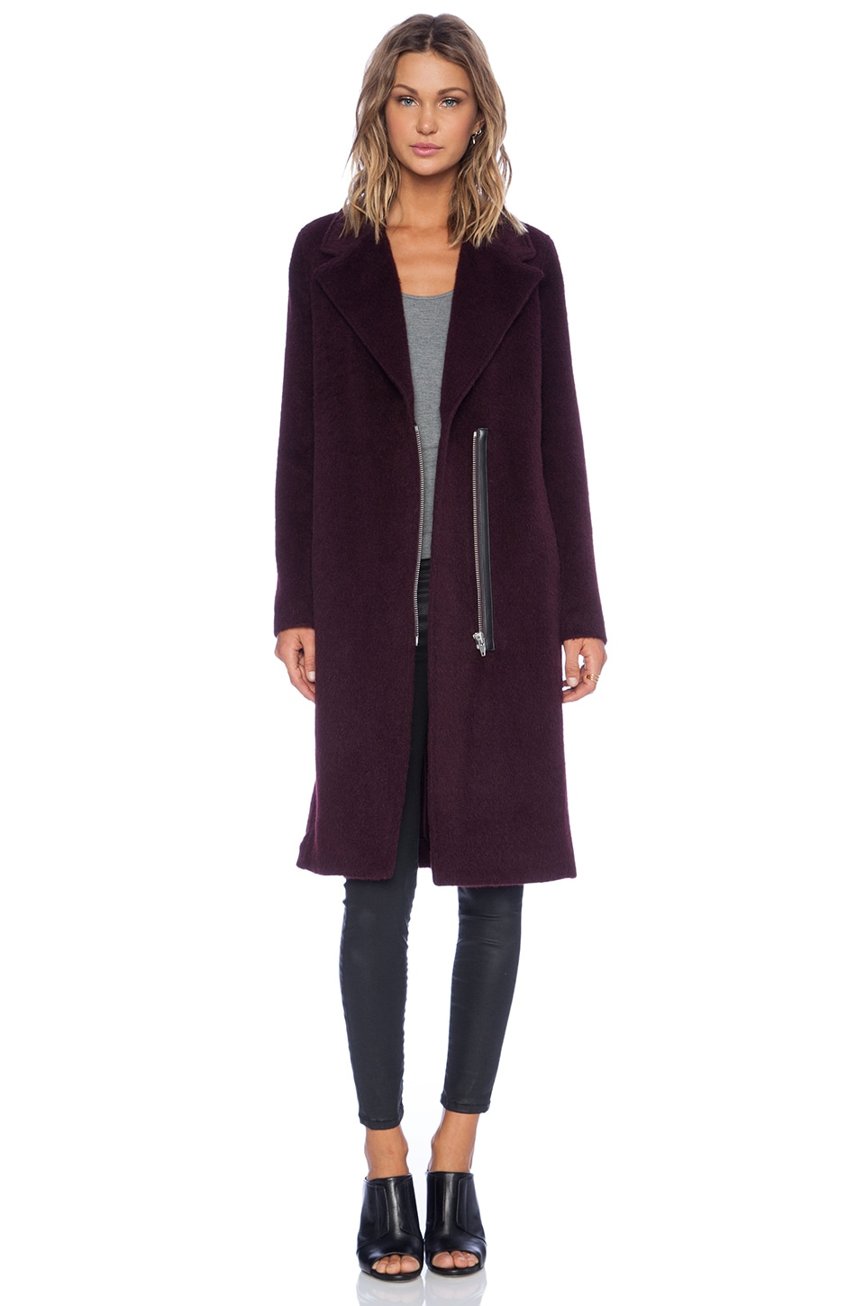 T by Alexander Wang MANTEAU LONG CAR