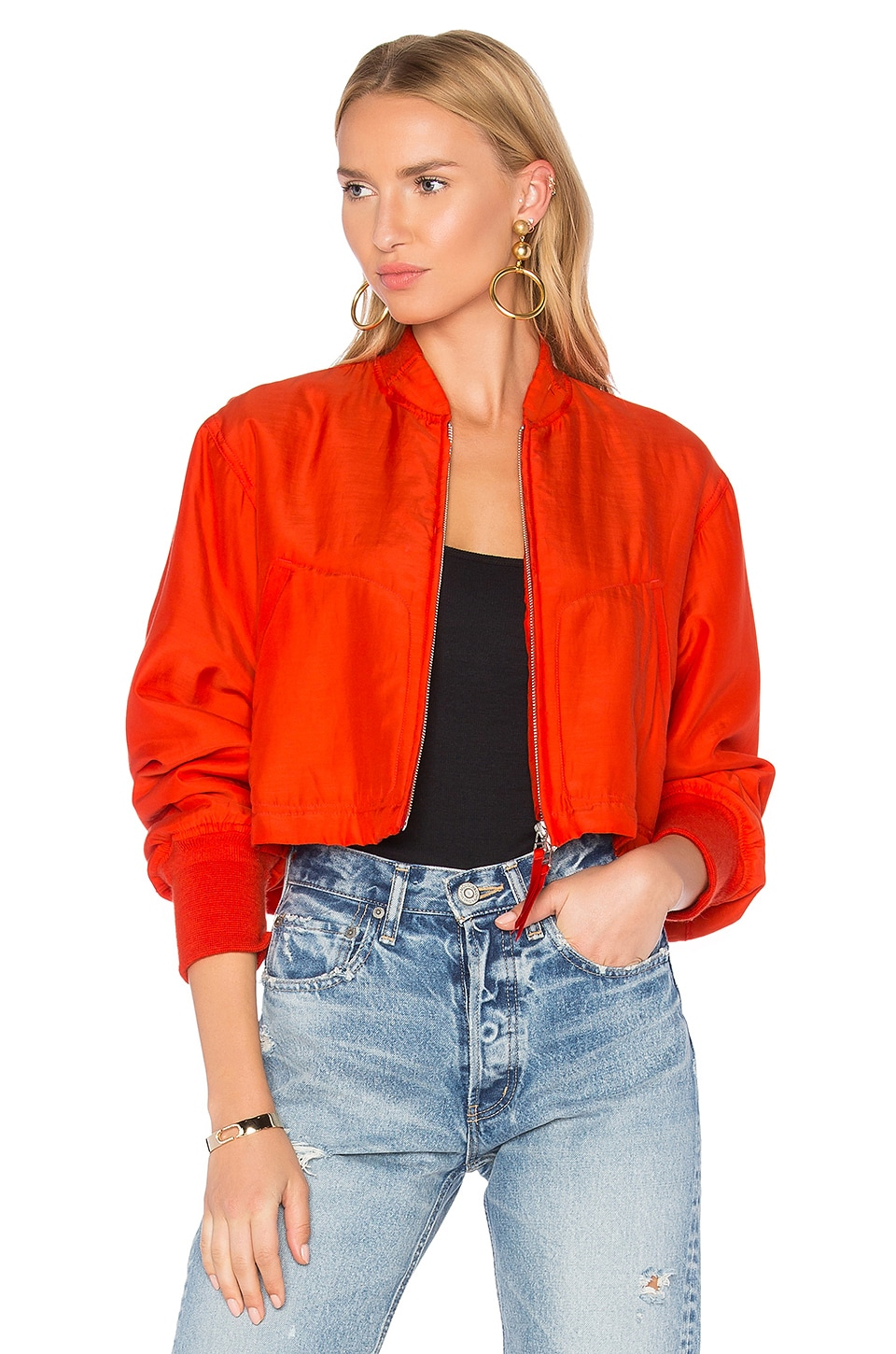 Crop Bomber Jacket by T by Alexander Wang