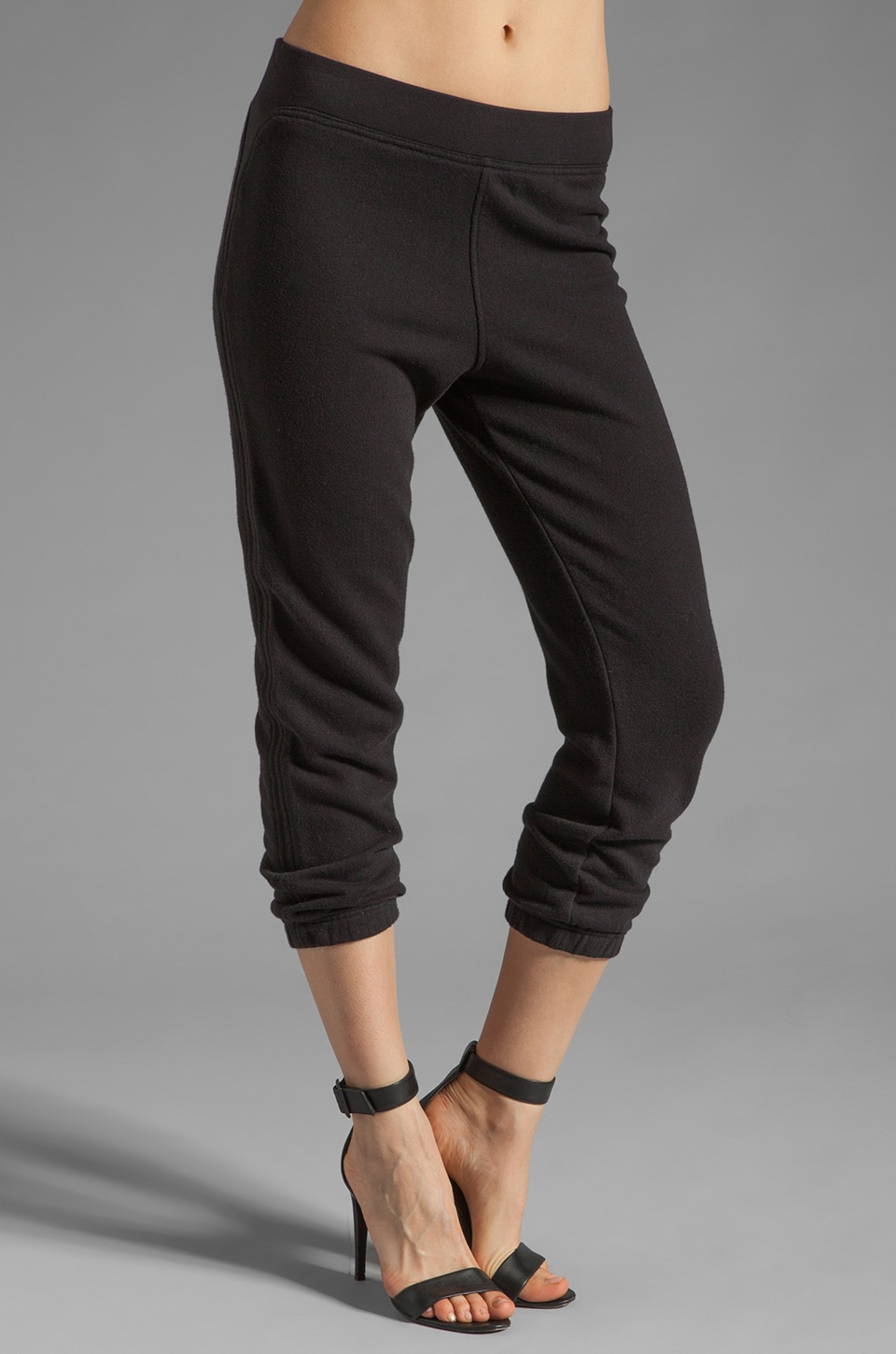 T by Alexander Wang Nep French Terry Sweatpants in Black