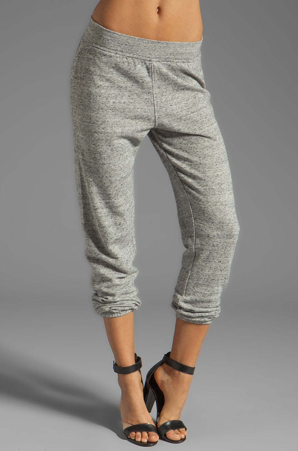 T by Alexander Wang French Terry Sweatpants in Light Heather Grey