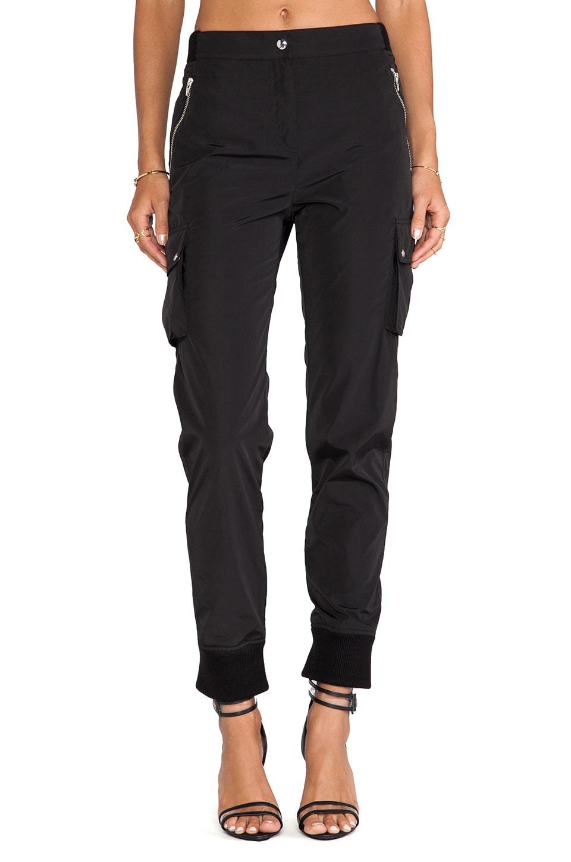 T by Alexander Wang Nylon Track Pants in Black