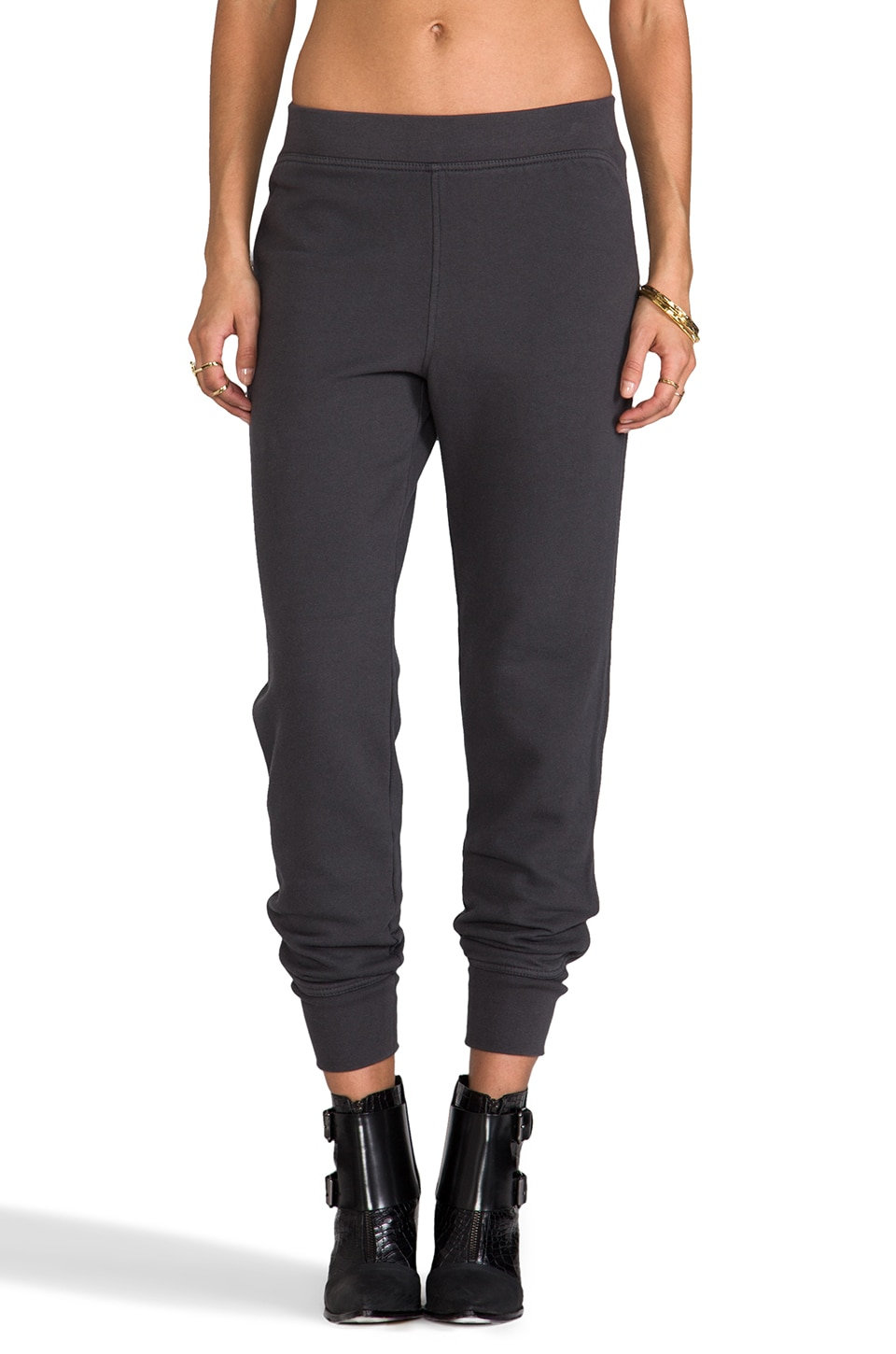 T by Alexander Wang Vintage Fleece Sweatpant in Charcoal