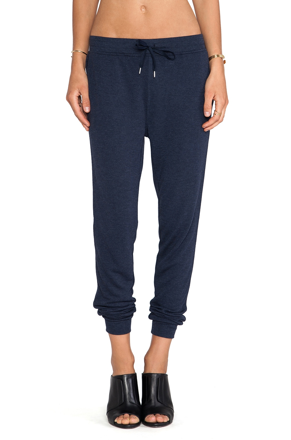 T by Alexander Wang Enzyme Washed French Terry Sweatpants in Indigo