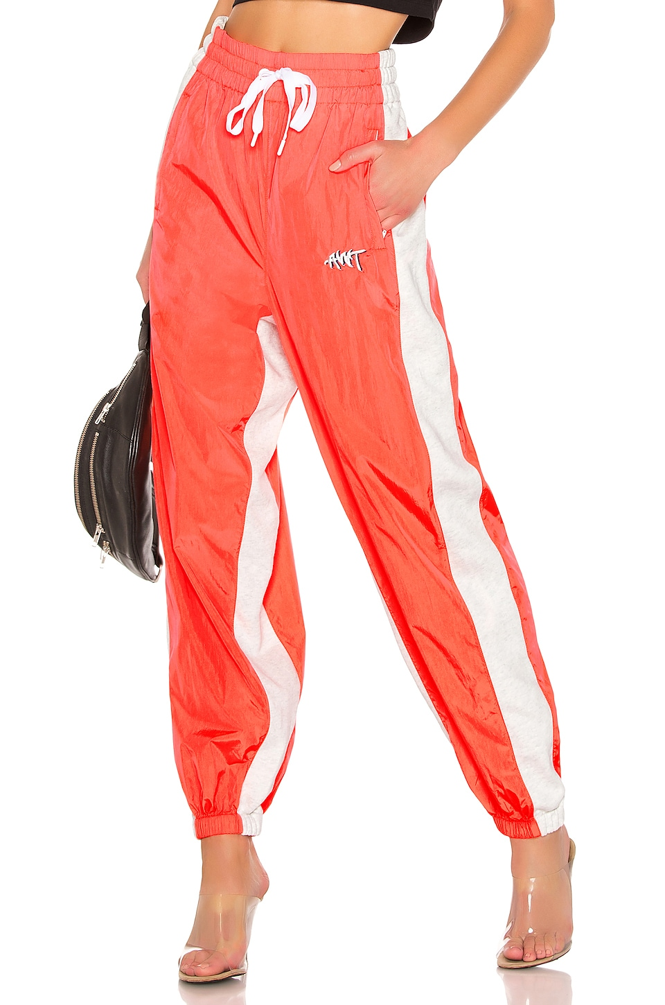 T by Alexander Wang Washed Nylon Pants en Bright Orange