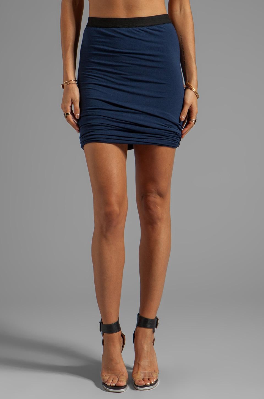 T by Alexander Wang Modal Spandex Double Twist Skirt in Indigo