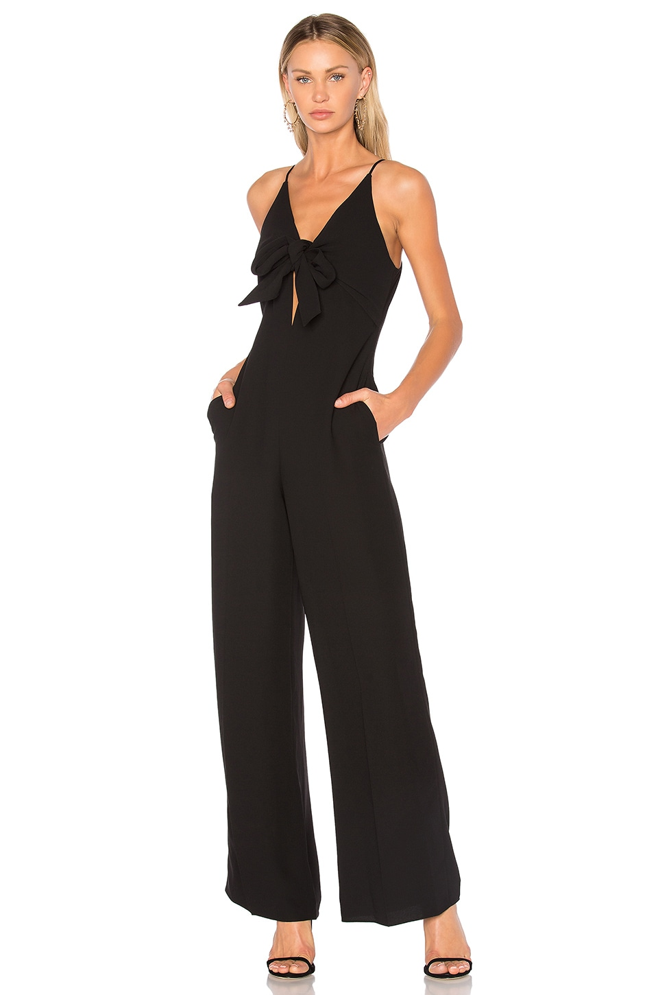 Tie Front Wide Leg Jumpsuit by T by Alexander Wang
