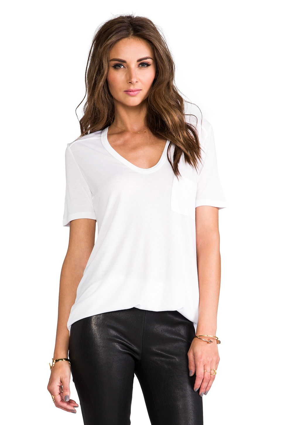 T by Alexander Wang Classic T with Pocket in White
