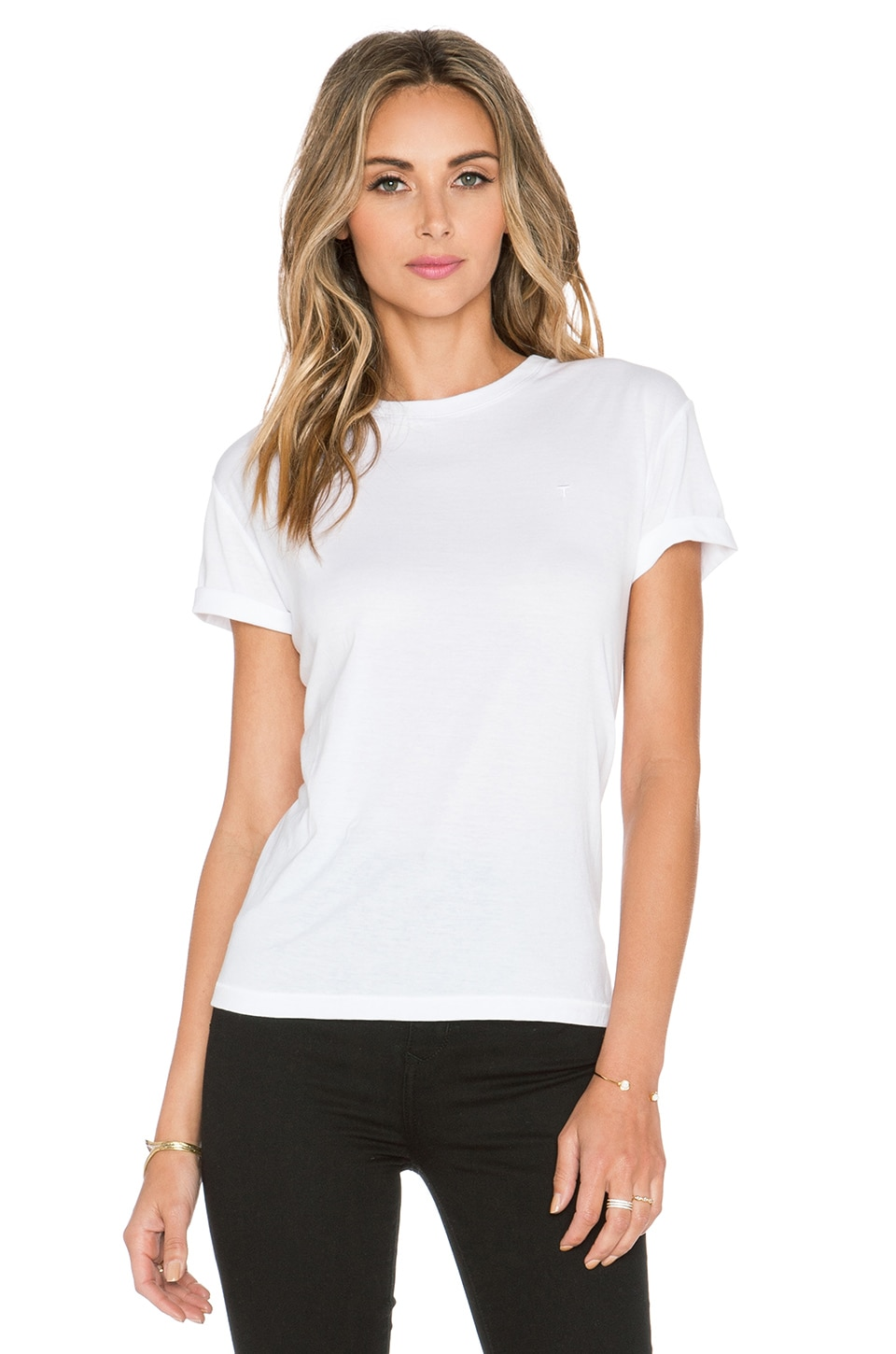 T by Alexander Wang Crewneck Tee in White