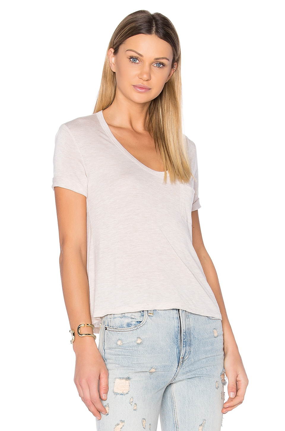 Crop Pocket Tee by T by Alexander Wang