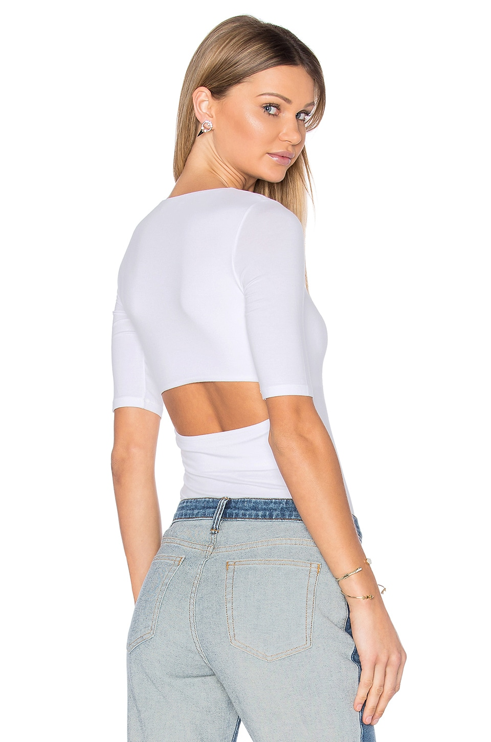 Short Sleeve Back Slit Tee by T by Alexander Wang