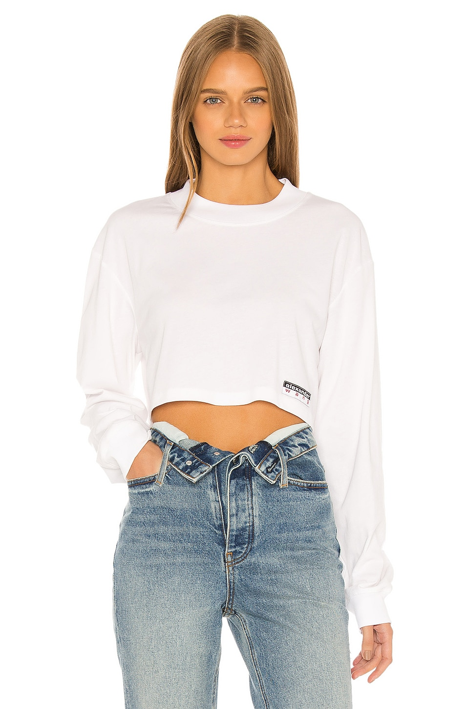 T by Alexander Wang Wash & Go Cropped Top in White