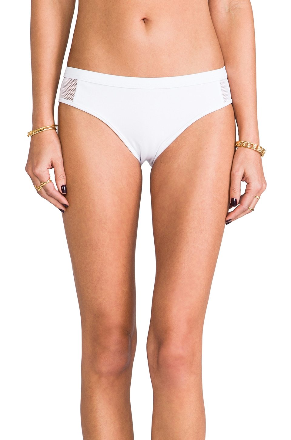 T by Alexander Wang Mesh Combo Bottoms in White