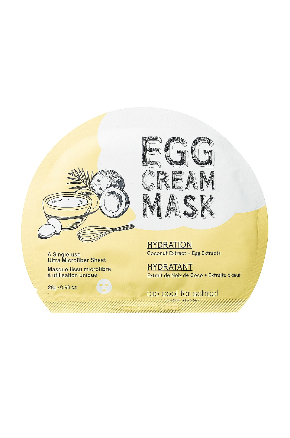 TOO COOL FOR SCHOOL EGG CREAM MASK (HYDRATION)