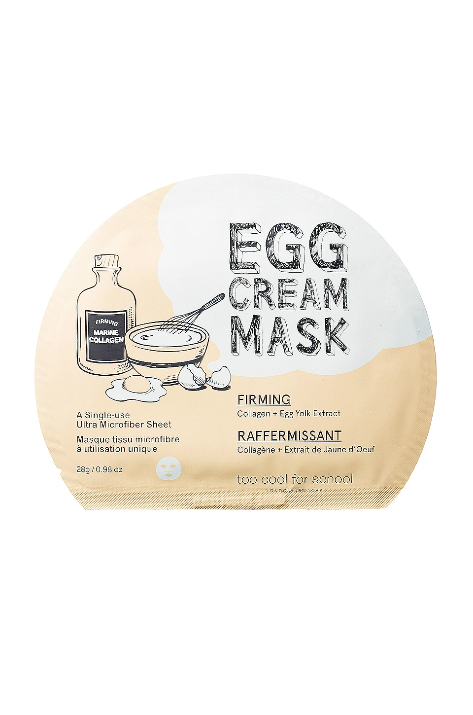 Too Cool For School Egg Cream Mask (Firming)