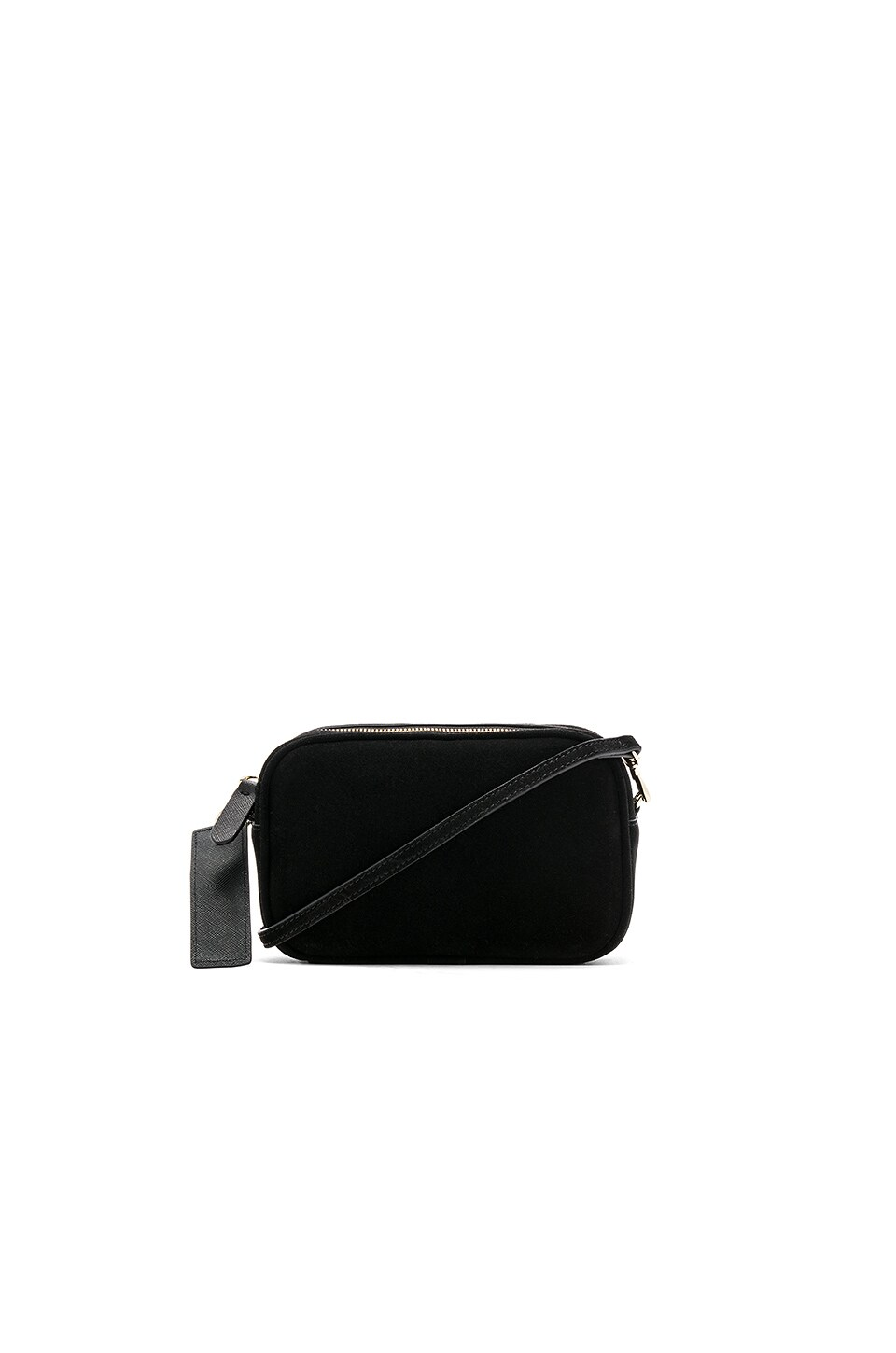 the daily edited Suede Mini Crossbody Bag in Black